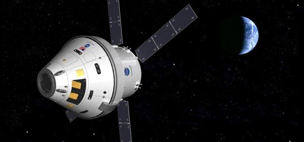 Orion's first mission may now only comprise a flight around the Moon, rather than orbiting it. Credit: Cosmic Pearl