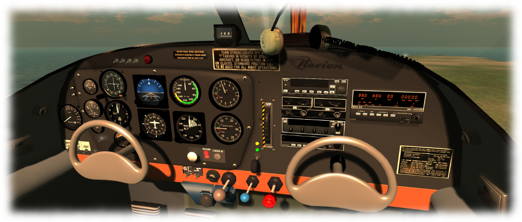 Flying the CLS Ryan Navion (via Firestorm) in Second Life