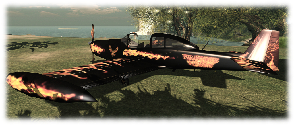 Flying the CLS Ryan Navion (via Firestorm) in Second Life