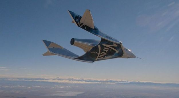 VSS Unity seen from a chase plane during the December 22nd, 2016 glide flight