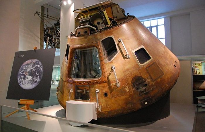 The Apollo 10 Command Module, Charlie Brown, is now on display at the Science Museum, London. Credit: The Science Museum