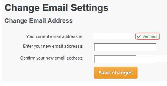 A verified e-mail address