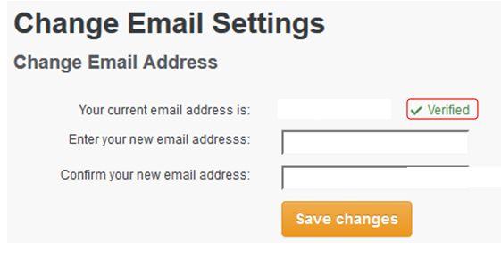 A verified e-mail address