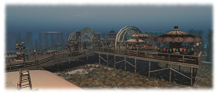 Why not enjoy the beach and fun fair whilst under the sea?