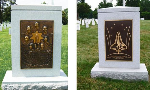 The Challenger and Columbia memorials, Arlington National Cemetery