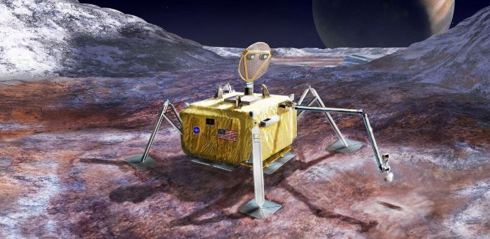 Artist's impression of the follow-up lander mission vehicle