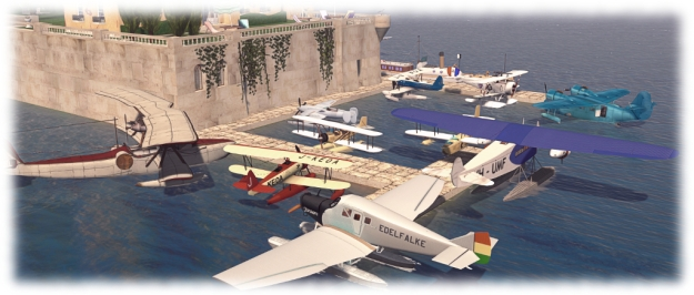 Michael's love of vehicles can be seen in his collection of vintage seaplanes