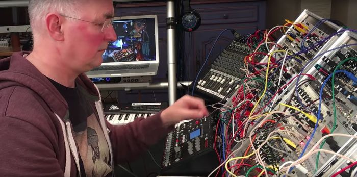 The original plug & play - nnoiz working at his modular synthesisers