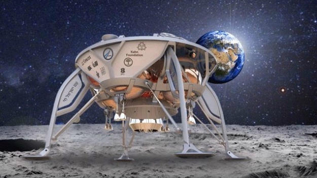 The roughly dishwasher-sized SpaceIL concept lander, one of the Google Lunar X Prize flight finalists