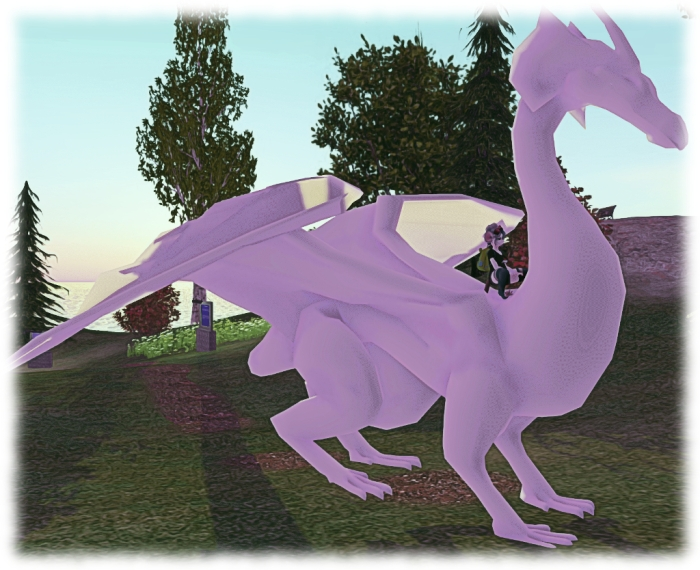A closer look at Teager's WIP ridable dragon, which has yet to be textured