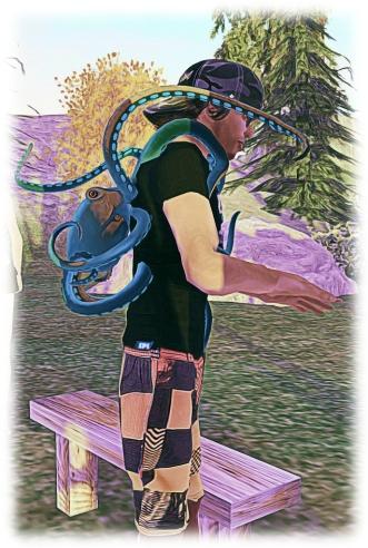 Troy Linden wears a Bento octopus