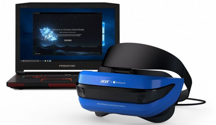 The Acer Mixed Reality Headset and Microsoft Windows Mixed Reality developer edition