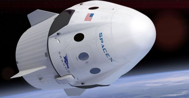 The Dragon 2 crew capsule attached to its service module. Credit: SpaceX