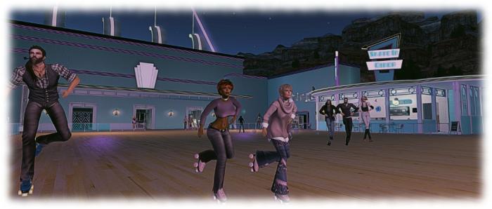 Calas Skate-O-Rama: line dancing - on roller skates!