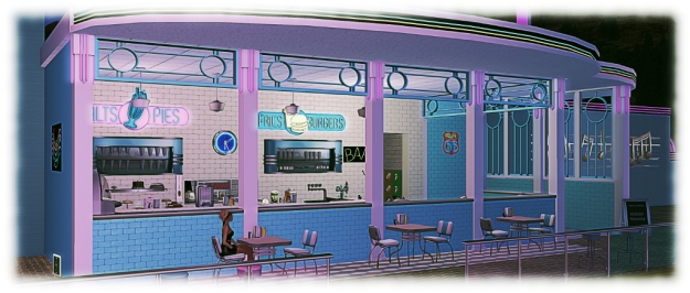 Calas Skate-O-Rama: the burger bar fuels engery - and help keep you warm under that clear desert sky!