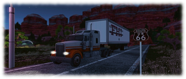 Calas Skate-O-Rama: take care when crossing the road - there are big rigs passing!