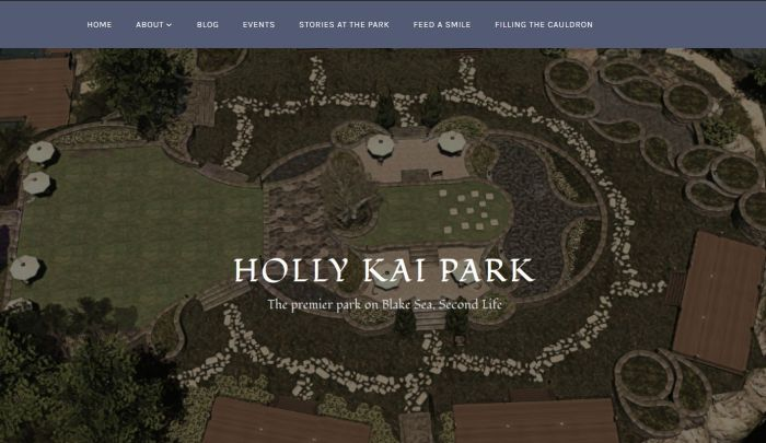 The new Holly Kai Park splash screen - click to visit the site