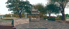 Isla Pey: formal garden pond