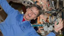 """Peggy Whitson - most space """"firsts"""" held by a woman. Credit: NASA"""
