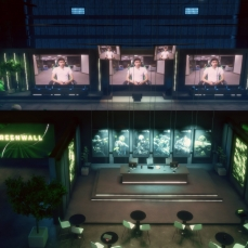 The official Greenwall Sansar experience could be considered an example of a more complex watch room style of experience