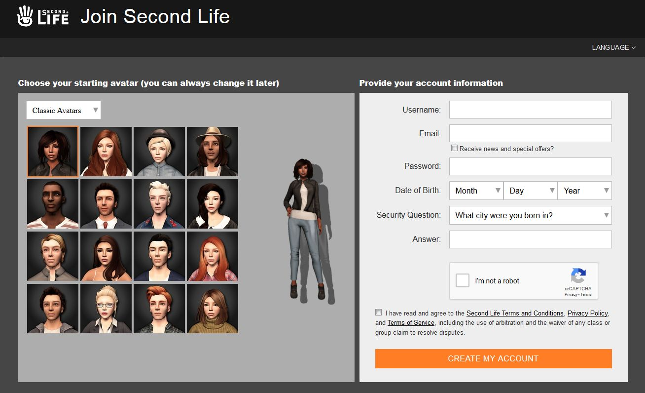 A look at the new Second Life sign-up pages – Inara Pey: Living in a